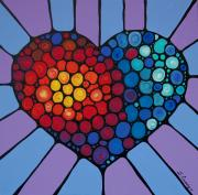 Heart Art Posters - Love Conquers All Poster by Sharon Cummings
