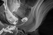 Peter Lik Style Framed Prints - Lower Antelope Canyon BW Framed Print by Michael Ver Sprill