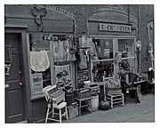 Store Fronts Prints - Lucky Seven Print by Juls Adams