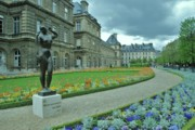 Luxembourg Gardens Prints - Luxembourg Gardens Print by Allen Beatty