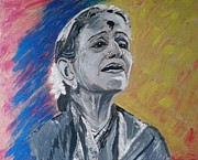 Devotional Paintings - M S Subbulakshmi by Vidya Vivek