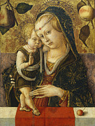 Christ Child Framed Prints - Madonna and Child Framed Print by Carlo Crivelli