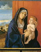 Baby Jesus Framed Prints - Madonna and Child Framed Print by Giovanni Bellini