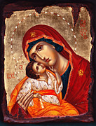 Christ Child Prints - Madonna and child Print by Yordanka Karalamova