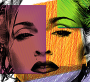 Lips Digital Art - Madonna  by Mark Ashkenazi
