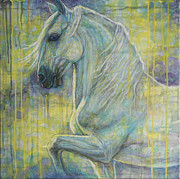 Horse Artist Art - Magic Blue by Silvana Gabudean