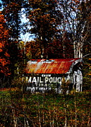 Indiana Autumn Posters - Mail Pouch Barn Poster by Brook Steed