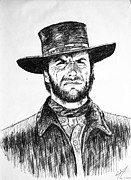 Sergio Leone Metal Prints - Man with no name Metal Print by Salman Ravish