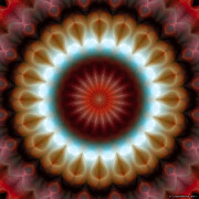 Hinduism Metal Prints - Mandala 83 Metal Print by Terry Reynoldson