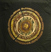 Quilts Tapestries - Textiles - Mandala No 3 Tree Rings by Lynda K Boardman