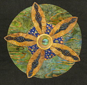 Fiber Art Tapestries Textiles Tapestries - Textiles Posters - Mandala No 6 Wheel of Fortune Poster by Lynda K Boardman