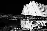 Excalibur Prints - mandalay bay to excalibur monorail line passing the excalibur casino Las Vegas Nevada USA Print by Joe Fox
