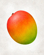 Ingredient Painting Framed Prints - Mango  Framed Print by Danny Smythe
