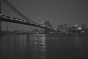 Fdr Drive Prints - Manhattan Bridge Print by Damon Barrett