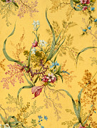 Yellow Leaves Drawings Prints - Marble end paper  Print by William Kilburn