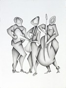 Music Pastels Originals - Mariachi by David Walsh