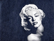 Hyper-realism Drawings - Marilyn Monroe by Erin Mathis