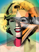 Female Legends Digital Art Prints - Marilyn Monroe Print by Mark Ashkenazi