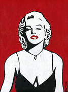 Beauty Mark Painting Framed Prints - Marilyn Monroe Framed Print by Roz Barron Abellera