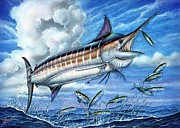 Striped Marlin Painting Framed Prints - Marlin Queen Framed Print by Terry Fox