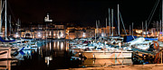 Dusk Art - Marseille France panorama at night by Photocreo Michal Bednarek