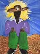 Gullah Art Framed Prints - Master of Thoughts Framed Print by Patricia Sabree