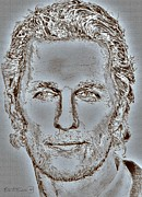 Vivid Colour Mixed Media Posters - Matthew McConaughey in 2011 Poster by J McCombie