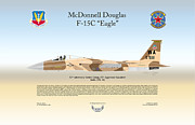 Adversary Framed Prints - McDonnell Douglas F-15C Eagle Framed Print by Arthur Eggers