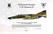 Air Wing Graphics Prints - McDonnell Douglas F-4E Phantom II Print by Arthur Eggers