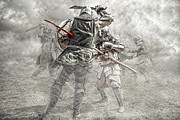 Fight Digital Art Metal Prints - Medieval battle Metal Print by Jaroslaw Grudzinski