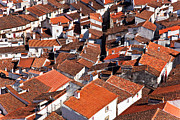 Birdseye Photo Metal Prints - Medieval town rooftops Metal Print by Lusoimages