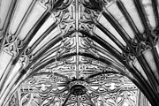 Gothic Revival Framed Prints - Memorial Archway Ceiling Framed Print by Charline Xia