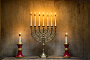 Candelabrum Framed Prints - Menorah Framed Print by John Greim