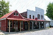 Sesquicentennial Digital Art Prints - Merchants Row II - Perryville KY Print by Thia Stover