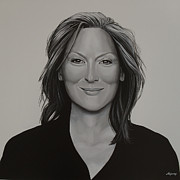 Springs Paintings - Meryl Streep by Paul  Meijering