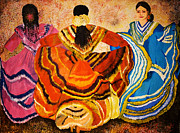 Hispanic Painting Metal Prints - Mexican Fiesta Metal Print by Sushobha Jenner