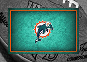 Dolphins Framed Prints - Miami Dolphins Framed Print by Joe Hamilton