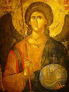 Byzantine Posters - Michael the Archangel Poster by Ellen Henneke