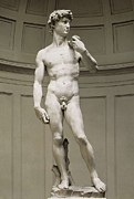 Youthful Photo Prints - Michelangelo 1475-1564. David Print by Everett