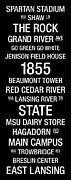Cedar River Prints - Michigan State College Town Wall Art Print by Replay Photos