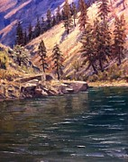 Salmon River Idaho Paintings - Middle Fork of the Salmon by Tom Siebert
