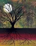 Tree Roots Painting Posters - Midnight Poster by Barbie Baughman