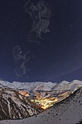Milky Way Over The Alborz Mountains, Print by Science Photo Library
