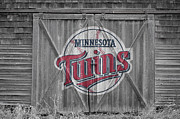 Baseball Glove Posters - Minnesota Twins Poster by Joe Hamilton