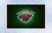 Puck Framed Prints - Minnesota Wild Framed Print by Joe Hamilton