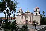 Mission Santa Barbara Print by Christiane Schulze