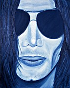 Mj Painting Posters - MJ in Shades Poster by Tina Grimes