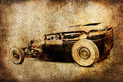Graffitti Coupe Prints - Model A Sedan Print by Steve McKinzie
