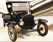 Ford Model T Car Digital Art Framed Prints - Model T Framed Print by Curt Johnson