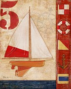 Toy Boat Paintings - Model Yacht Collage II by Paul Brent